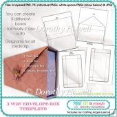 3 Way Envelope Box Template - Personal Use