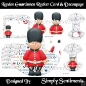 London Guardsmen Rocker Card & Decoupage