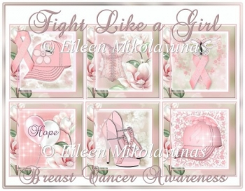 Fight Like a Girl Breast Cancer Awareness Cottage Chic Toppers