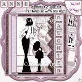 ELEGANT LADY 7.5 Alphabet and Age Quick Card Kit Create Any Name
