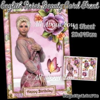 English Roses Beauty Card Front