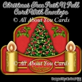 Christmas Tree Push N Pull Card & Envelope