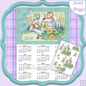 WATER CAN JOY 2019 A4 UK Calendar with Decoupage Mini Kit