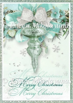Christmas Ornament Backing Background Paper