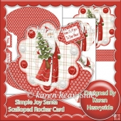 Simple Joy Santa Scalloped Rocker Card