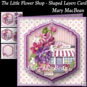 The Little Flower Shop - Shaped Layers Card