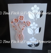 Vase Card TF0084, SVG, MTC, SCAL, CRICUT, CAMEO, ScanNCut