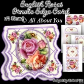 English Roses Ornate Edge Card