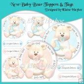 New Baby Bear Toppers & Tags