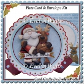 Deer Friends Christmas Plate Card Kit