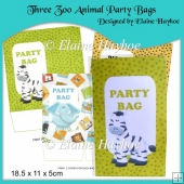 Three Zoo Animal Party Bags
