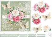 Mixed rose and butterfly