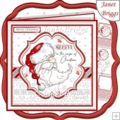 SANTA BELIEVE IN THE MAGIC 7.5 Christmas Decoupage & Insert Kit
