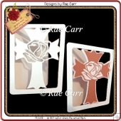 528 Rose Cross Card *Multiple MACHINE Formats*