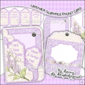 Lavender Scalloped Pocket Card