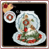 362 Christmas Girl Easel *HAND & MACHINE Cut Files*