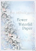Waterfall of Flowers Backing Background Paper