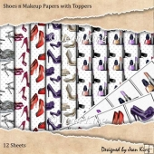 Shoes n Makeup Papers with Toppers