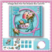 Vintage Boot And Hat Shadow Box Card Kit