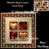 Valentine Square Layers Card Front
