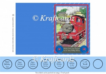Tobias The Tank Engine A6 Quick and Easy Card (JPEG)