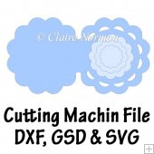 Scallop Edged Circular Card Cutting Machine File GSD SVG DXF