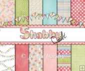 Shabby Quilt 12 A4 Patterned Papers Pinks, Greens, Blue