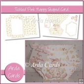 Tickled Pink Nappy Shaped Card