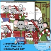 Christmas Mice and Parcels Decoupage Set