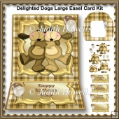Delighted Dogs Large Easel Card Kit