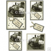 Men's Happy Birthday (Train Engine) Card Toppers