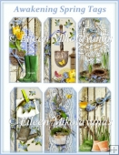 Awakening Spring Garden Cottage Chic Tag Set