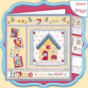 HOME IS WHERE THE HEART IS 7.5 Decoupage & Insert Kit