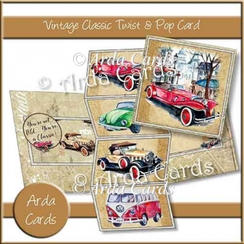Vintage Classic Twist & Pop Card