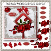 Red Roses With Diamond Frame