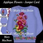 Applique Flowers - Jumper Card