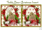 Teddy Bear Christmas Card Insert