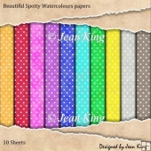 Beautiful Spotty Watercolours papers