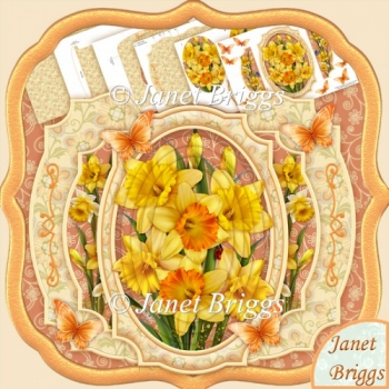 Daffodils Double Pop Out Card Kit with Pyramage
