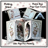 Potting Shed - Flower box Pop-Out Card