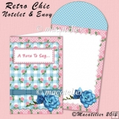 Notelet & Envelope: Retro Chic
