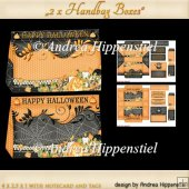 Minihandbag Boxes with notecard and tags halloween