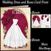 Wedding Dress and Roses Card Front
