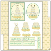 Golden Wedding Anniversary Decoupage