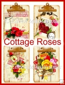 Cottage Roses Clipboard Toppers Set