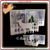 920 Z Fold Christmas or Winter Card MACHINE Formats