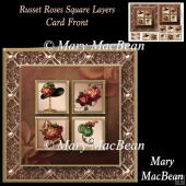 Russet Roses Square Layers Card Front