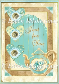 Multi-Layer Tea Time Backing Background Paper