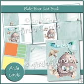 Boho Bear List Book