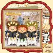 Christmas Church Choir 7.5 Decoupage Kit
